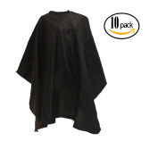 10 LCL Beauty Large Deluxe Ultra-Soft Nylon Blend Chemical-Proof & Water-Proof Cutting Capes