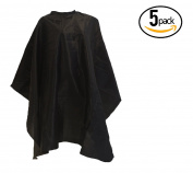 5 LCL Beauty Large Deluxe Ultra-Soft Nylon Blend Chemical-Proof & Water-Proof Cutting Capes