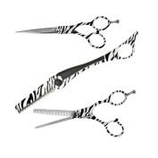 Togatta Styling Shear Set, Zebra