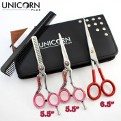 100 % NEW 3 X Professional Mirror Finish Cutting Scissors/Shears stainless Steel Barber Salon Thinning Shears with Leather Case Hairdresser Tool in 3 different size