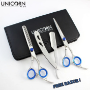 Super Sales OFFER - High Quality Stainless Steel Barber & Salon Styling Series - 17cm Mirror Finish Razor Edge Hair Cutting Scissors - Stylish Hair Thinner by Unicorn Plus