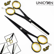Brand New 100% Stainless Steel Super Cut Barber Salon Scissors/Shears ,2X Professional Hair Cutting & Thinning Scissors 15cm Inch Come in a PVC Pouch