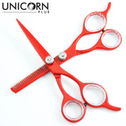 Unicorn Plus - Professional Barber/salon/home Hair cutting + Hair Thinning Scissors/Shears 15cm Inch - Barber Salon Stylish Hairdressing Set Come in a PVC Pouch