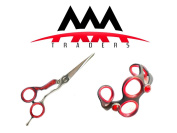 Professional Hairdressing Shears/Scissors 14cm Inch with Quality Barber Hairdressers Bracelet Red Colour