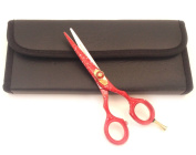 Professional extreme Sharp Hairdressing Cutting Barber Scissors Shears 14cm Red Snow + Free Case