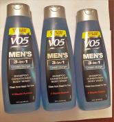 3 Pk, Alberto VO5 Men's 3-in-1 Shampoo Conditioner Body Wash , Ocean Surge 440ml