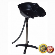 New PortableHeight Black Adjustable Shampoo Basin Hair Bowl Salon Treatment Tool