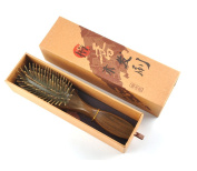 Imstyle Natural Green Sandal Wooden Hair Brush with Cushion Anti-static Detangling for Hair Maintaining Care