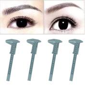 FTXJ 1PC Microblading Makeup Permanent Eyebrow Measure Guide Ruler Reusable Tools