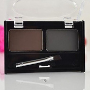 Interesting 2 in1 Portable Makeup Eyebrow Powder/Shadow Palette W/ Nature Brush Shading Set
