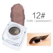 U-beauty 12 Colour Optional Water-proof Smudge-proof Eyeliner Gel Makeup Cosmetic Gel Eye Liner/Eyeliner Smudge-Proof Cosmetic Beauty Makeup Liquid Eyeliner Pen Kit
