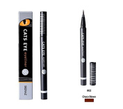 Skinaz Cats Eye Brush eyeliner (0.6g) Real black Easy washable Long lasting
