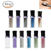 OR Pure 11 Colours Mineral Eyeshadow Glitter Pigment Bright Eyeshadow Beauty Glitter Eyeshadow Palette Roll on Bottle Style