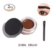 OR Pure Eye Makeup Cosmetic Brows Gel Cream Set Pul off Gel Eyeliner with Matching Brush Quick Dry Waterproof and Anti Sweat Stain Dark Brown