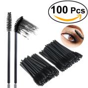NUOLUX Mascara Brushes,100pcs Disposable Mascara Wands Mascara Applicator Set