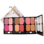 EBC 4 Colour x 3 Blusher Palette, 12 Colour Pack