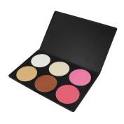 Contour kit, 6 Colours Professional Face Sculpting, SQDeal Camouflage and Concealing Powder Makeup Blush Palette