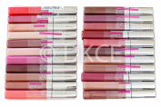 22 x Maybelline Colour Sensational Lip Gloss 22 Shades Wholesale Bulk - Pink, Red, Brown, Beige, Clear, Coral by Colour Sensational