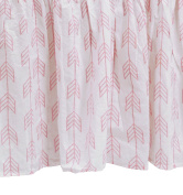 Zack & Tara Crib Skirt - Arrows in Pink