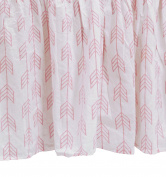 Zack & Tara Crib Skirt - Arrows in Pink