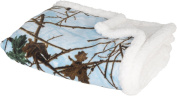 Trail Crest Baby Camo Soft Sherpa Blanket W/ Magnet, Blue Camo
