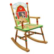Fantasy Fields by Teamson Happy Farm Childrens Rocking Chair Kids Wooden Rocker Seat TD-11332A
