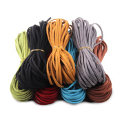 Micro-Fibre Flat Leather Lace Beading Thread Faux Suede Cord String Velet