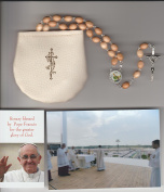 Saint Patrick Beige Relic Rosary Blessed by Pope Francis on July 31, 2016 at WYD in Krakow Poland Patron of Ireland