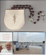 Saint Patrick Burnt Red Relic Rosary Blessed by Pope Francis on July 31, 2016 at WYD in Krakow Poland Patron of Ireland