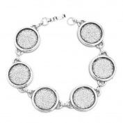 18mm Round Blank Bezel Bracelet Blanks Forms fit 18mm Round Cabochons Pack of 5