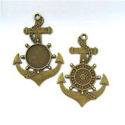 20pcs/lot 20mm Necklace Pendant Setting Antique Bronze Silver Glass Cabochon