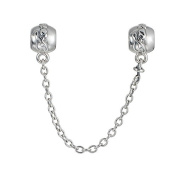 FJCharm Family Ties Safety Chain 925 Sterling Silver bead fits Pandora Charms bracelets 5cm length