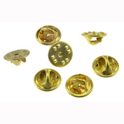 Lapel Pin Backs 100 New Pieces Brass Butterfly Clutch Badge Insignia Clutches Replacement