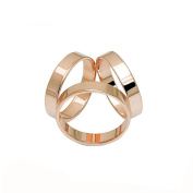 Unisex 3D Trio Rings Gold Plated Scarf Silk Buckle Clip Fashionable Scarves Ring Shiny Accessory For Xmas Gift