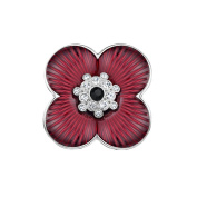 Poppy Pin Badges Brooches Remembranc Red Flower Rhinestone Badges Banquet Enamel Engraved Four Petals Lapel Pin