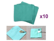 10 PCS LOT Pack Jewellery Cleaning Cloth Polishing Cloth for Sterling Silver Gold Platinum 8cm BY 8cm SIZE