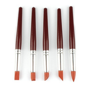 Bluemoona 5 Pcs - Pottery Tools Clay Modelling Sculpting Kits Silicone Rubber Tip Fimo Clay 18cm