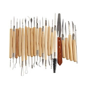 WElinks 22Pcs Stainless Steel Pottery/Ceramic/Polymer Clay Sculpture Carving Art Tool Set Assorted Length