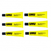 6 Tubes UHU All Purpose Adhesive Glue