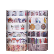 Antner Washi Masking Tape Collection DIY Scrapbooking Sticker, 12 Rolls