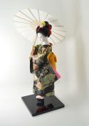 "Japanese Doll - Geisha with umbrella - 30cm/12"" tall - Asian Doll - GD053"