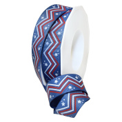 American Red, White, & Blue 2.2cm . x 3.7m Decorative Ribbon - Great for Any Occasion!