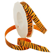 Orange Tiger Ribbon 3.8cm . x 3.7m Decorative Ribbon - Great for Any Occasion!