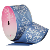 Blue Melissa Denim 3.8cm . x 3.7m Decorative Ribbon - Great for Any Occasion!