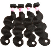 Belinda Hair Brazilian Body Wave Hair 4 Bundles 100% Unprocessed Virgin Human Hair Weave Natural Hair Colour 7A Grade