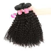 Meetu Virgin Brazilian Curly Hair 3 Bundles 20cm 7A Unprocessed Human Hair Weave Extensions Weft Afro Human Kinkys Curly Natural Black Hair