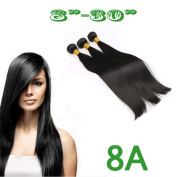 20cm - 80cm 8A 100g 100% Unprocessed Natural Black Human Hair Brazilian Virgin Remy Silk Straight Hair Weft Weave Extension 25cm