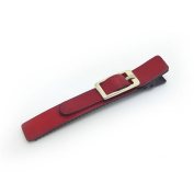 Meilliwish Leather Alligator Hair Clip (A63)