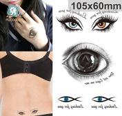 Body Art Temporary Removable Tattoo Stickers Eyes Sticker Tattoo - FashionDancing