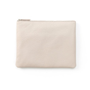 Medium Pouch - Full Grain Leather - Stone